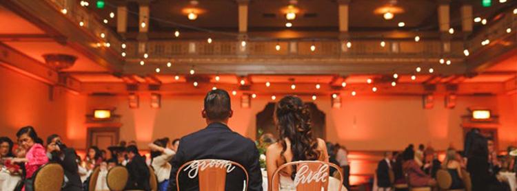 Best Wedding Lighting Company bistro at hotel john marshall
