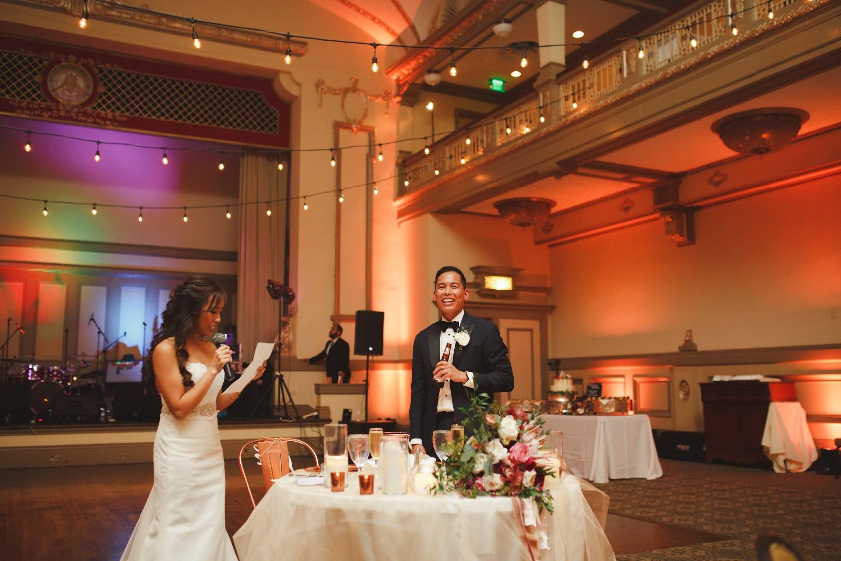 John Marshall Ballrooms Wedding Lighting