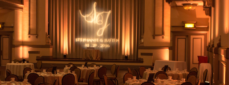 Custom Monogram wedding gobo