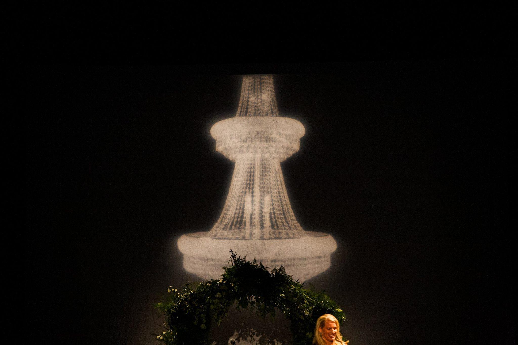 beautiful high definition wedding chandelier gobo