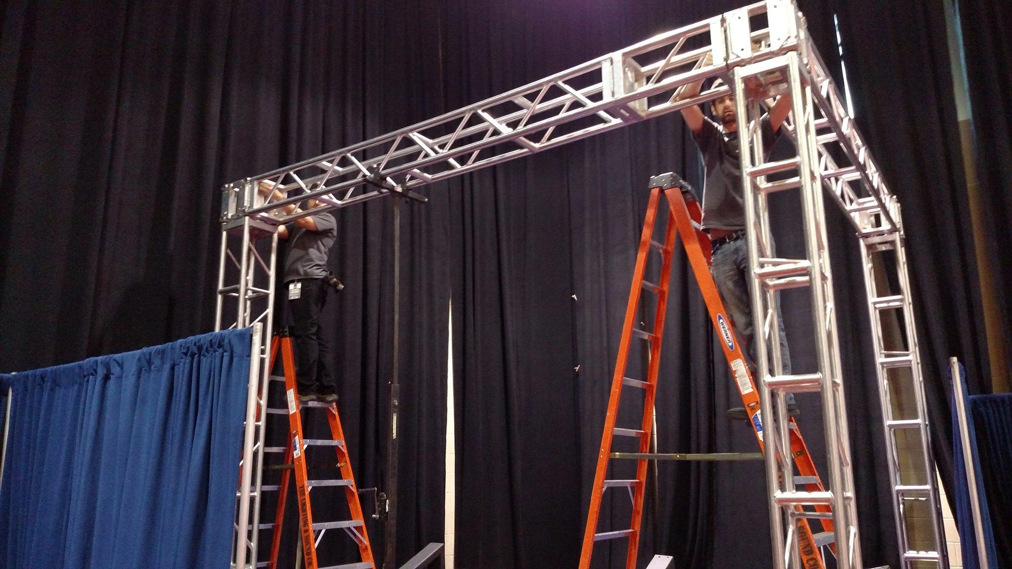 Truss TV Stage Lighting Political Vice Presidential Debates