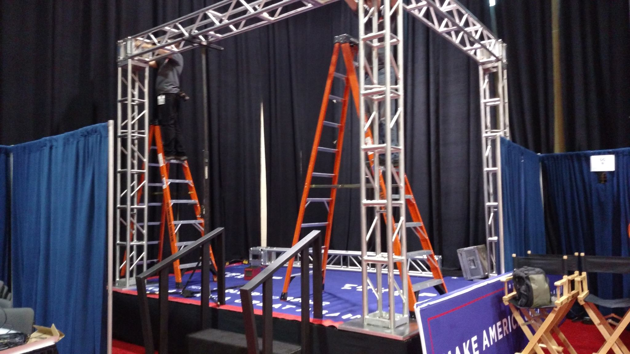 Truss TV Stage Lighting Political Vice Presidential Debates