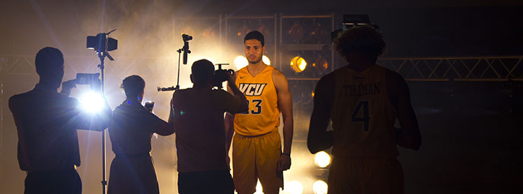 PAR64 Lighting VCU basketball richmond hype video