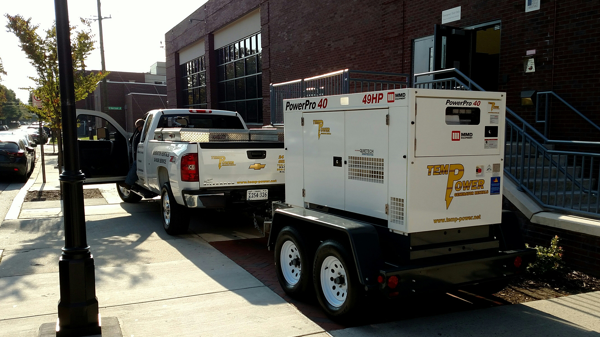 Temp Power generator temporary vcu basketball rva richmond virginia