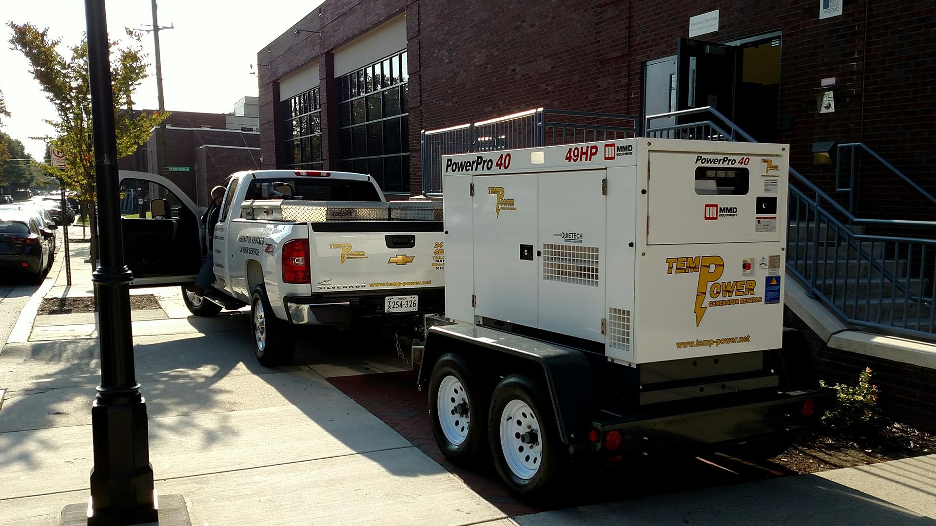 Temp Power generator temporary vcu basketball rva richmond virginia