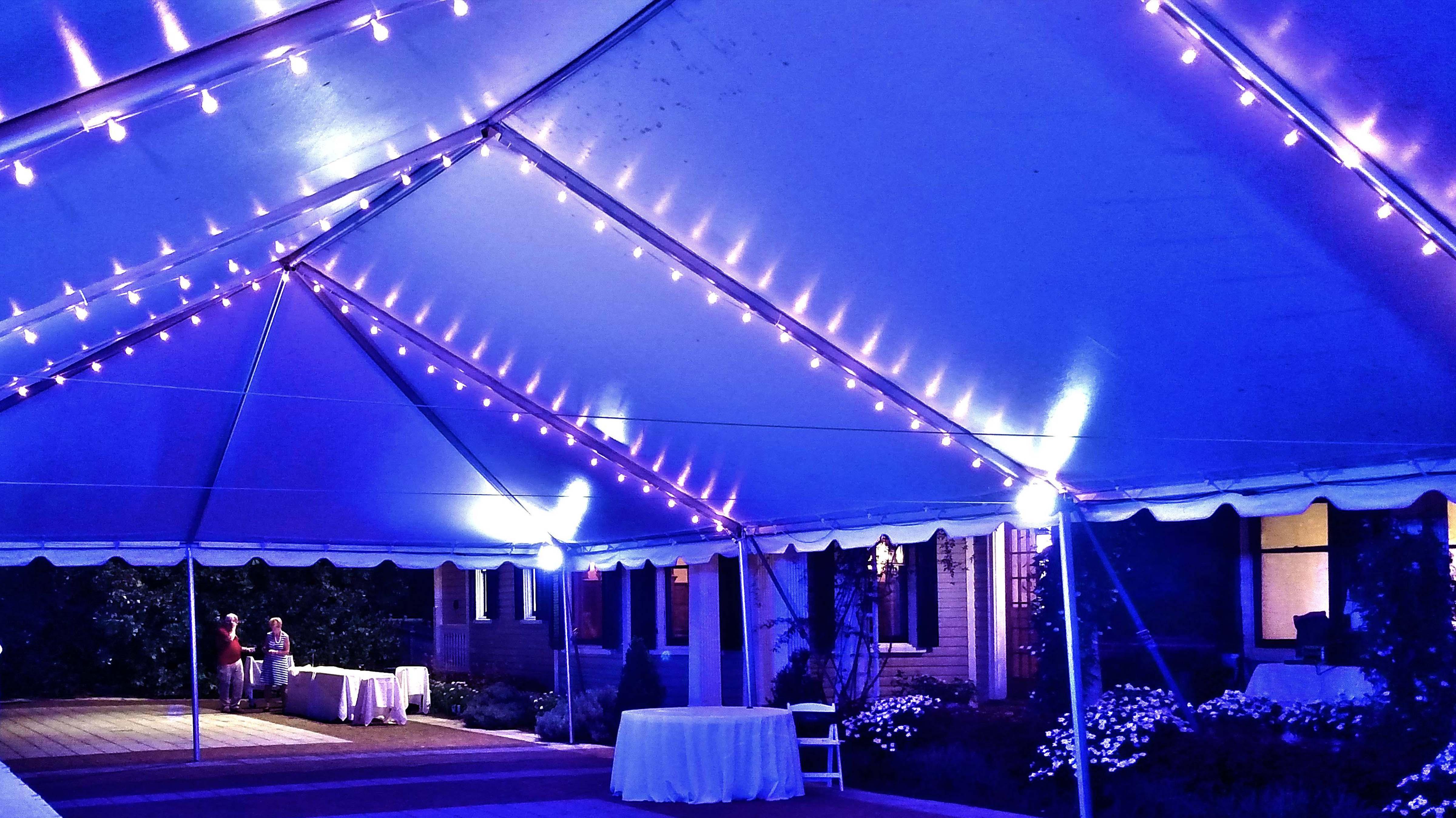 Tracing bistro wedding Lighting