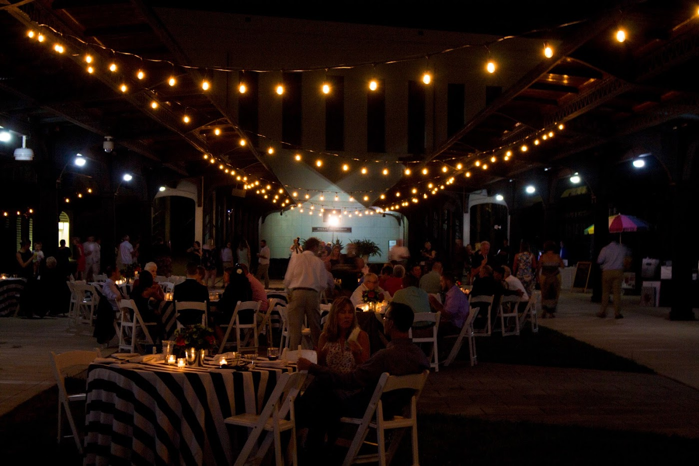 Garner Pavilion SMOV Wedding Bistro Lighting