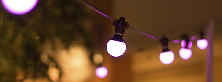 Chauvet Festoon Pink close up