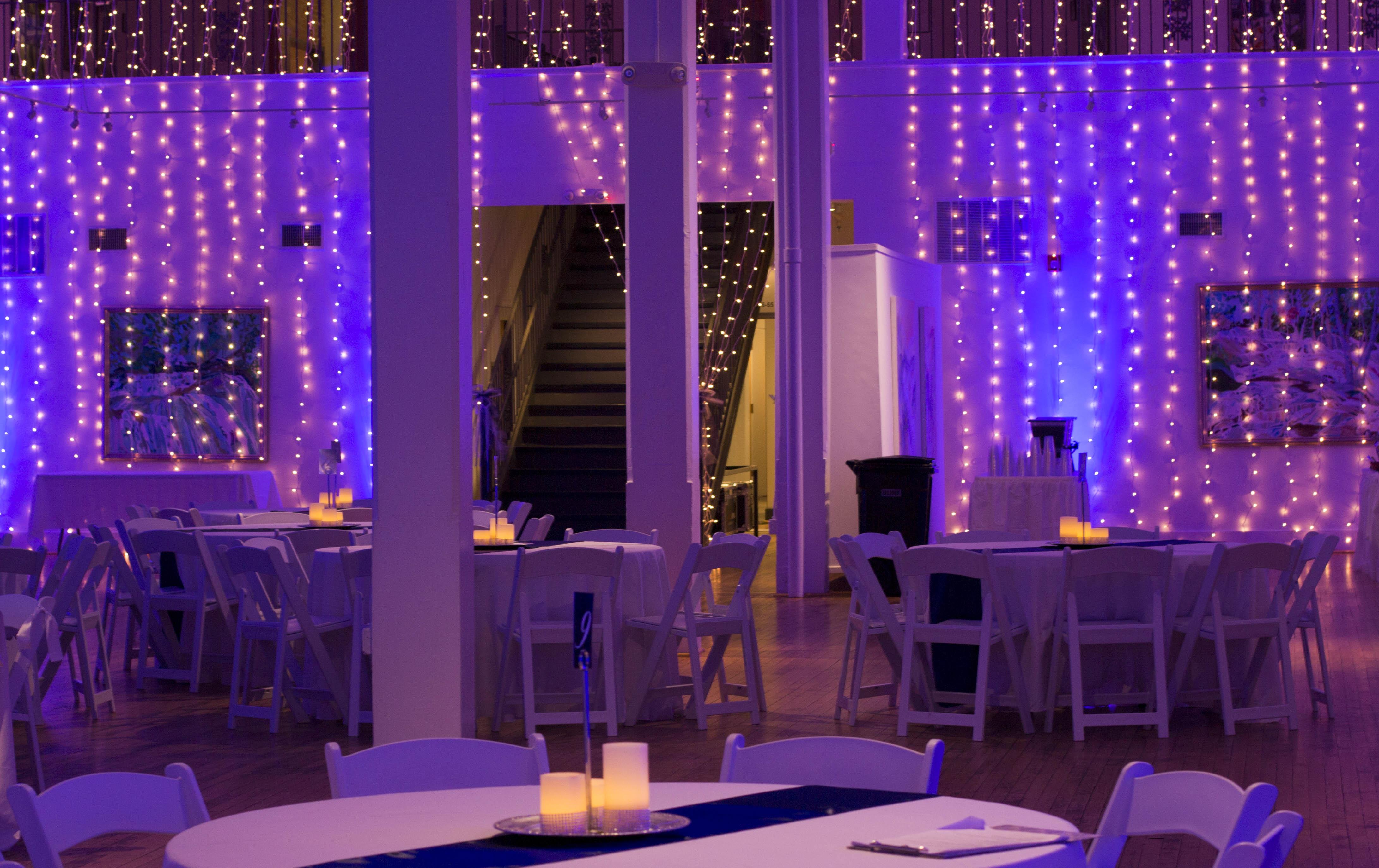 Wedding and event uplighting ward center pertersburg virginia