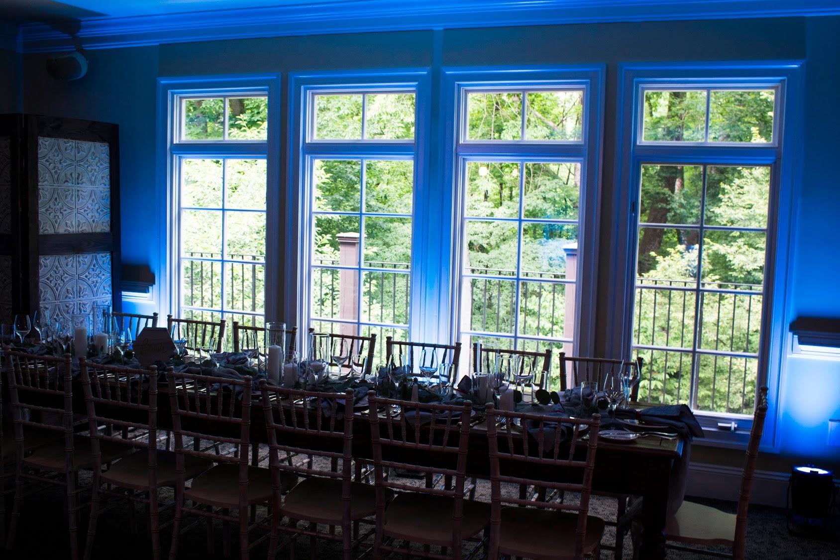 The Mill Fine Creek Uplighting Wedding Lighting