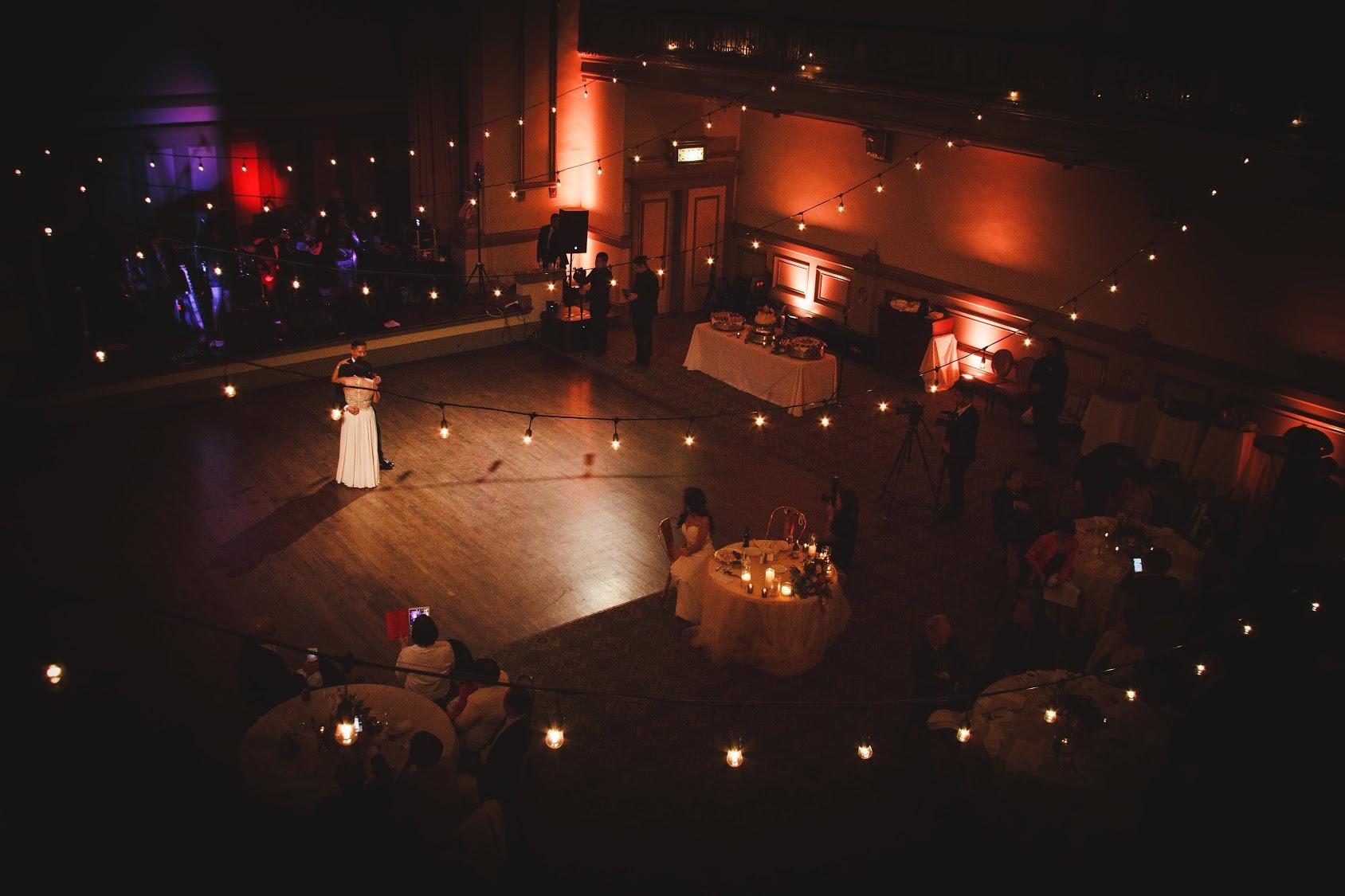 bistro wedding lighting john marshall ballrooms