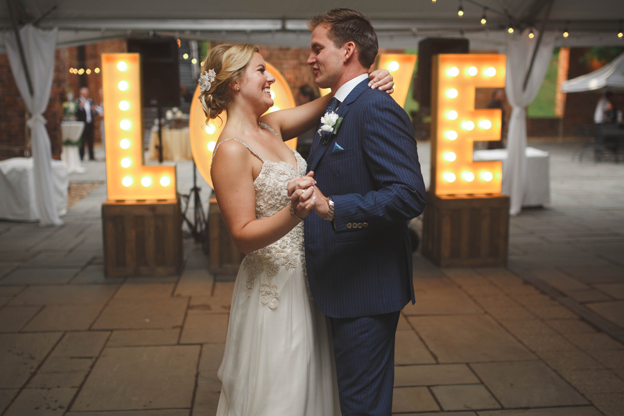 Marquee Love Letters Rustic Wedding