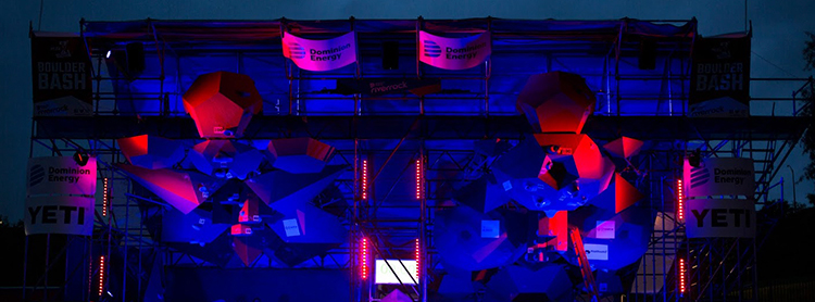 lighting for sports boulderbash 2018