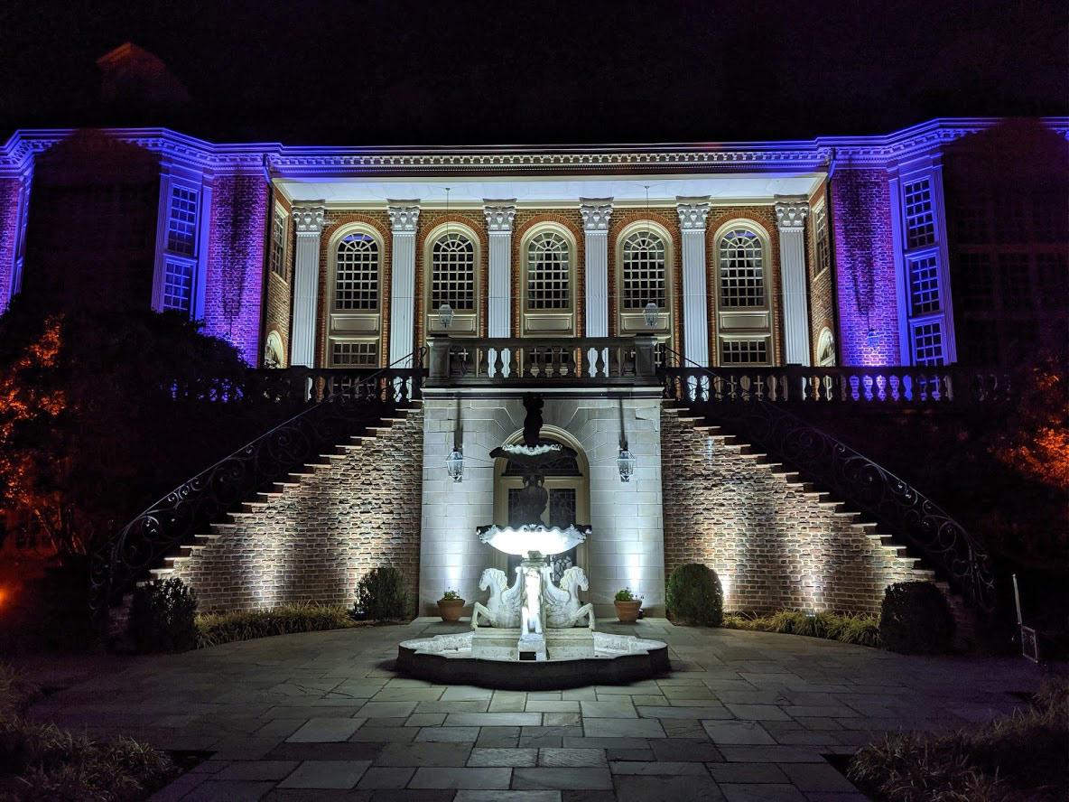 River Run Estate Event Lighting Back patio